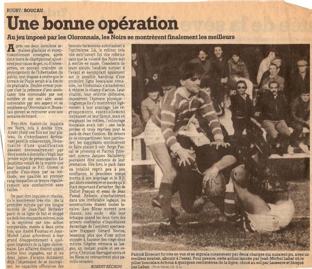 Saison 1984/85 (dernier 16ème de Finale de 1ère Division) Bs_olo13