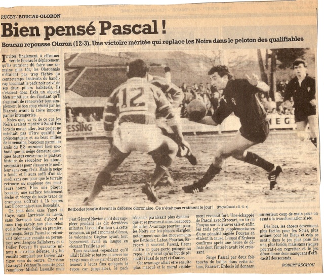 Saison 1984/85 (dernier 16ème de Finale de 1ère Division) Bs_olo14