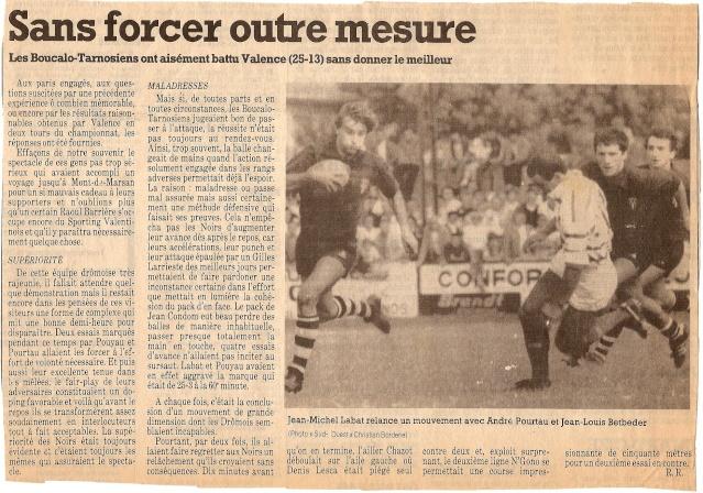 Saison 1984/85 (dernier 16ème de Finale de 1ère Division) Bs_val11