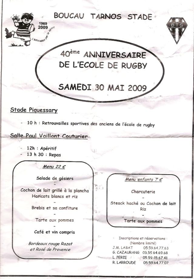 Manifestation pour les 40 ans de l'Ecole de Rubgy Menu_e10
