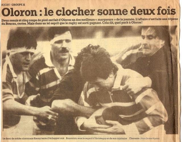 Saison 1984/85 (dernier 16ème de Finale de 1ère Division) Oloron13