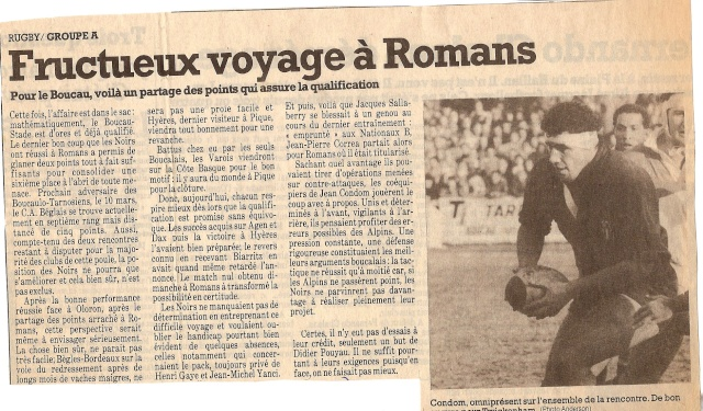 Saison 1984/85 (dernier 16ème de Finale de 1ère Division) Romans12