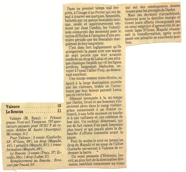 Saison 1984/85 (dernier 16ème de Finale de 1ère Division) Valenc12