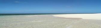 La plage aux sables blancs