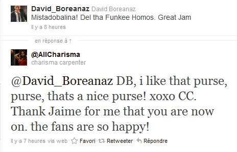 Les échanges Charisma/David sur Twitter 11-04-10