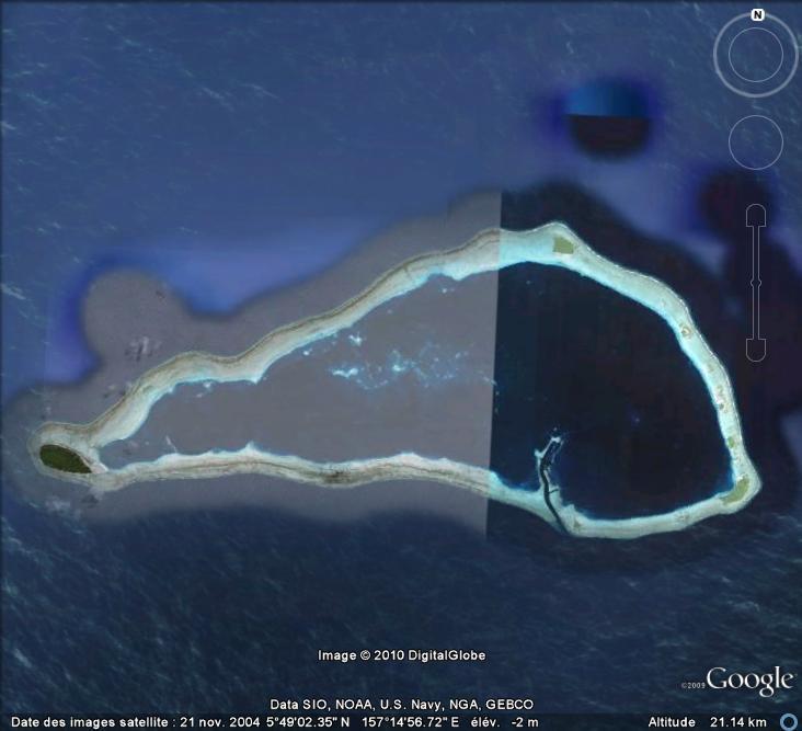 Les animaux sur Google Earth : baleine (Atoll Sapwuahfik, îles Carolines) Balein10