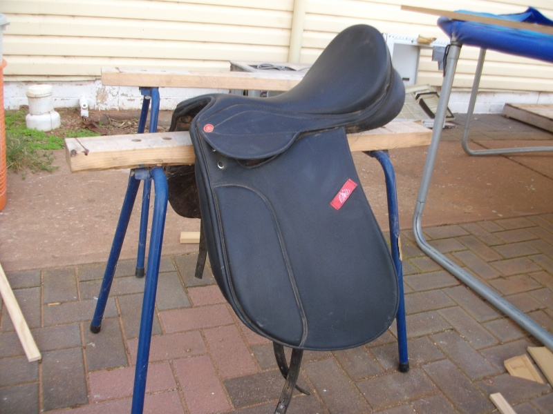 17 inch Knights synthetic Dressage Saddle. - as new. $250 Sany0510
