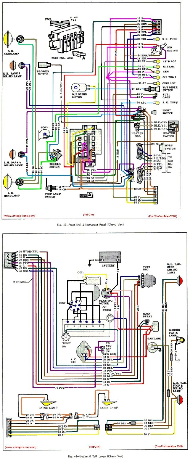 Van Wiring Diagram Library Wire For 2001 Chevy 3500 Truck First Gen Color Here It Is Brake Light