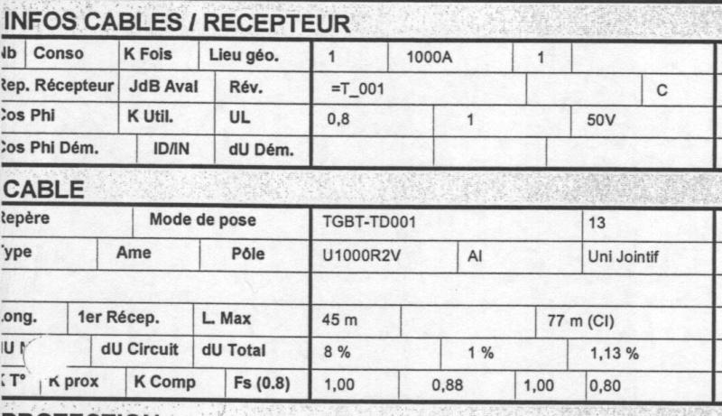 Rapport de stage et section de câbles Calcul10