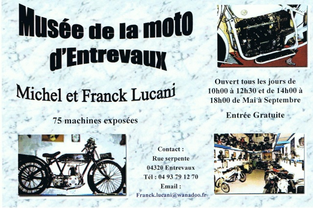 Musée de la Moto à Entrevaux (Alpes de Hte Provence) Musee310