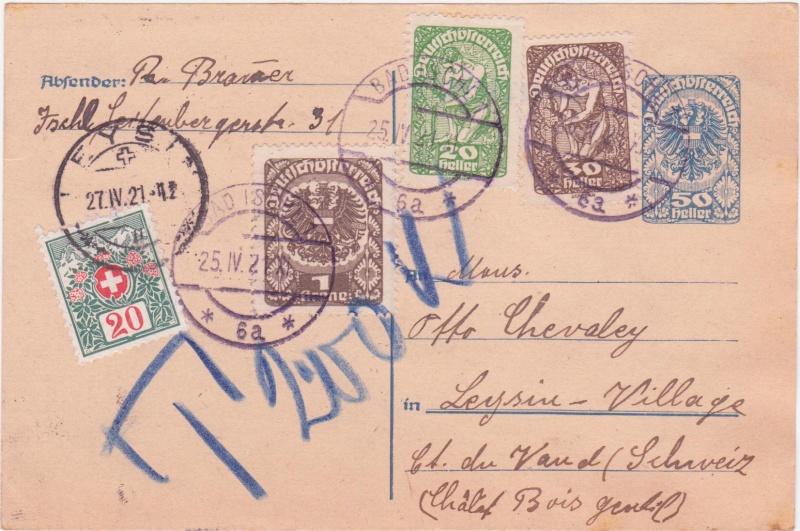 """Postkartenserie """"Neuer Wappenadler"""", Inschrift """"Deutschösterreich"""" 192110"""