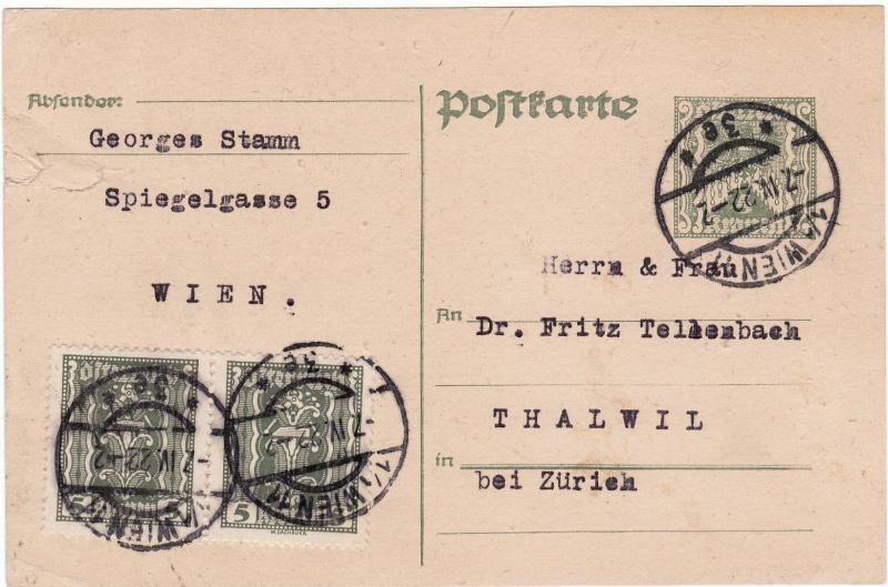 """Postkartenserie """"Quadratischer Wertstempel - Wertziffer im Dreieck"""" 1922-24 Img13"""