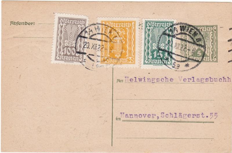 """Postkartenserie """"Quadratischer Wertstempel - Wertziffer im Dreieck"""" 1922-24 Img17"""