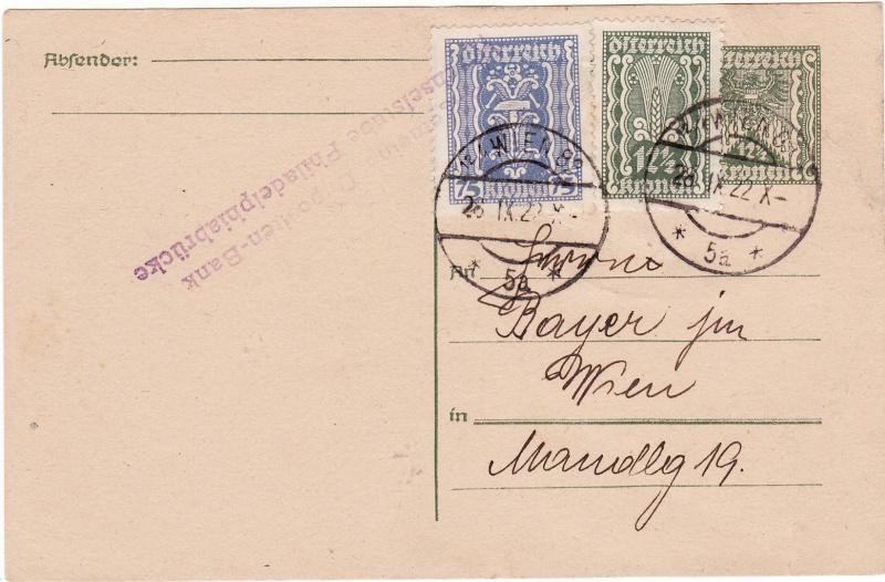 """Postkartenserie """"Quadratischer Wertstempel - Wertziffer im Dreieck"""" 1922-24 Img19"""