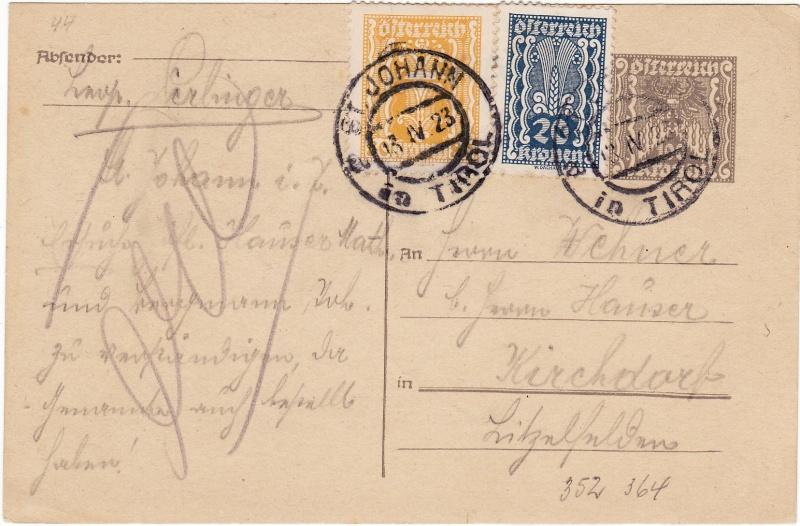 """Postkartenserie """"Quadratischer Wertstempel - Wertziffer im Dreieck"""" 1922-24 - Seite 2 Img39"""