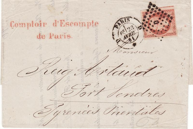 Frankreich  -  Poststücke mit Marken Type Napoleon Img45