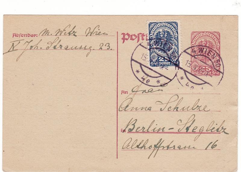 """Postkartenserie """"Neuer Wappenadler"""", Inschrift """"Deutschösterreich"""" Img51"""