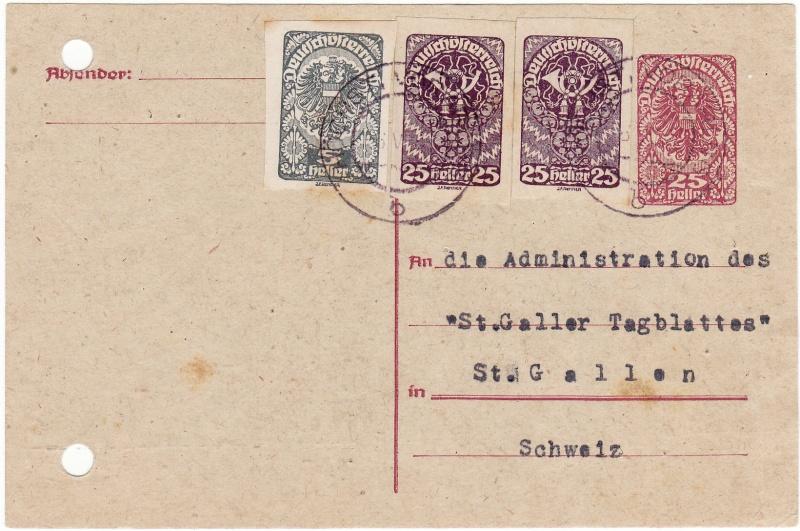 """Postkartenserie """"Neuer Wappenadler"""", Inschrift """"Deutschösterreich"""" Img53"""
