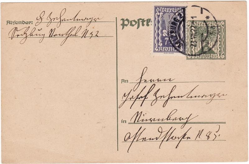 """Postkartenserie """"Quadratischer Wertstempel - Wertziffer im Dreieck"""" 1922-24 Img_0018"""