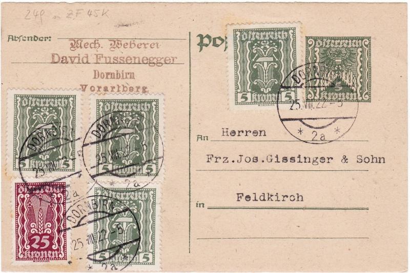 """Postkartenserie """"Quadratischer Wertstempel - Wertziffer im Dreieck"""" 1922-24 Img_0021"""
