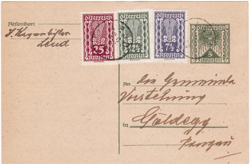 """Postkartenserie """"Quadratischer Wertstempel - Wertziffer im Dreieck"""" 1922-24 Img_0022"""