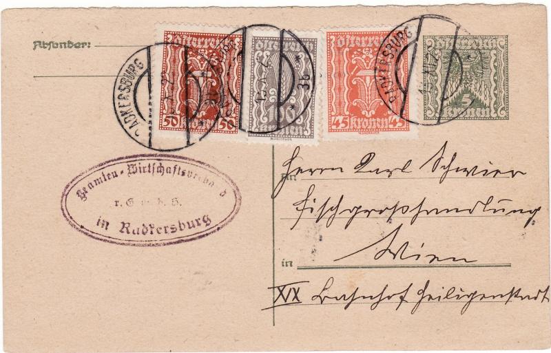 """Postkartenserie """"Quadratischer Wertstempel - Wertziffer im Dreieck"""" 1922-24 Img_0023"""