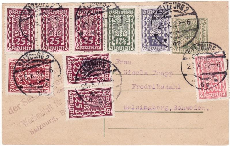 """Postkartenserie """"Quadratischer Wertstempel - Wertziffer im Dreieck"""" 1922-24 Img_0024"""