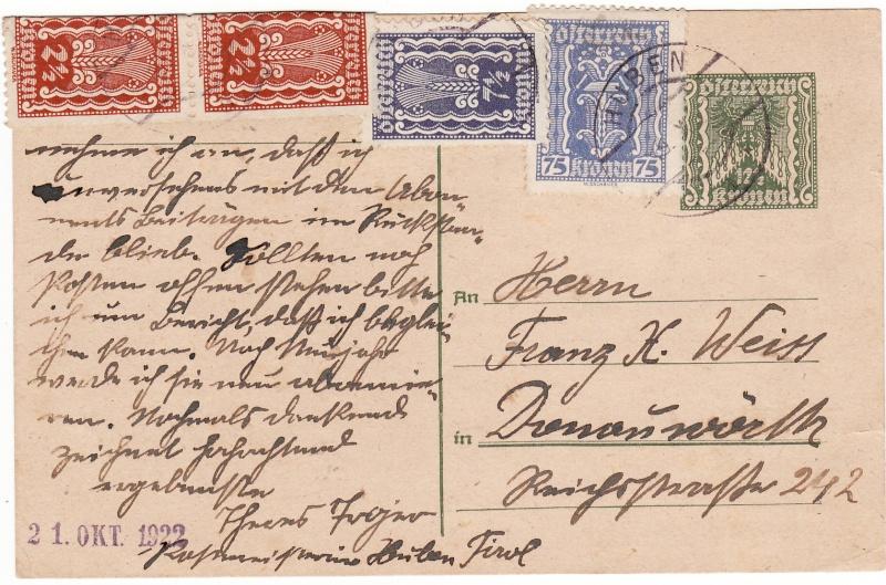 """Postkartenserie """"Quadratischer Wertstempel - Wertziffer im Dreieck"""" 1922-24 Img_0025"""