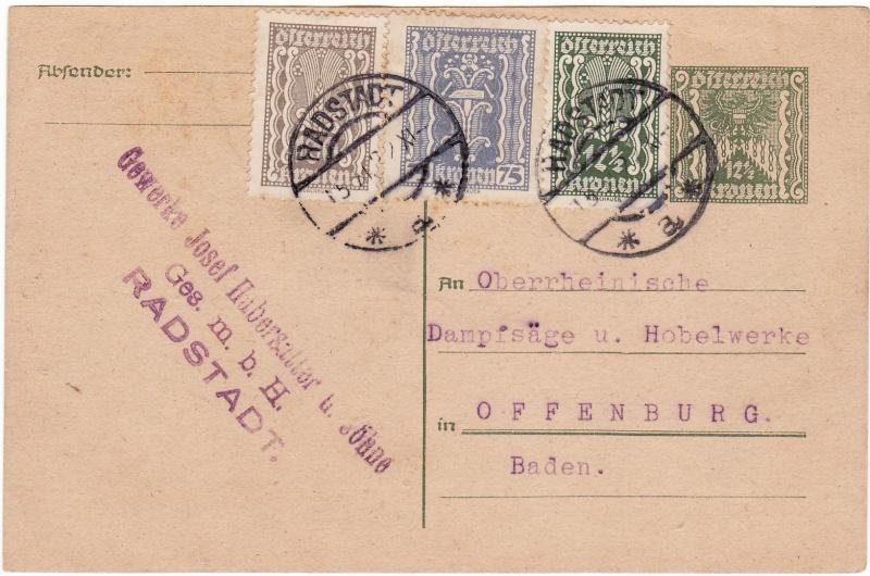 """Postkartenserie """"Quadratischer Wertstempel - Wertziffer im Dreieck"""" 1922-24 Img_0026"""