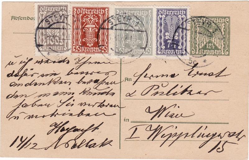 """Postkartenserie """"Quadratischer Wertstempel - Wertziffer im Dreieck"""" 1922-24 Img_0027"""
