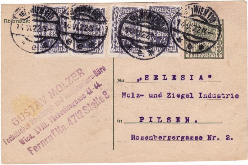 """Postkartenserie """"Quadratischer Wertstempel - Wertziffer im Dreieck"""" 1922-24 Img_0028"""