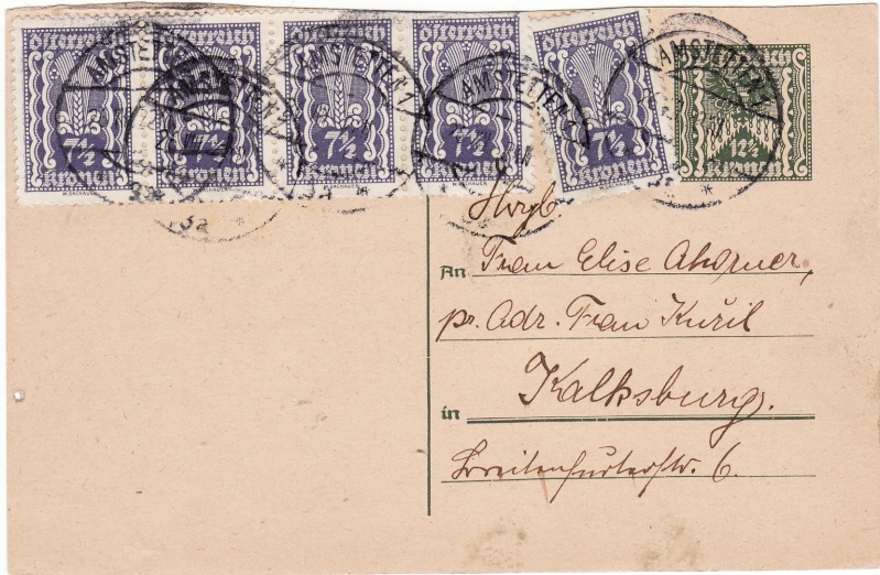 """Postkartenserie """"Quadratischer Wertstempel - Wertziffer im Dreieck"""" 1922-24 Img_0029"""