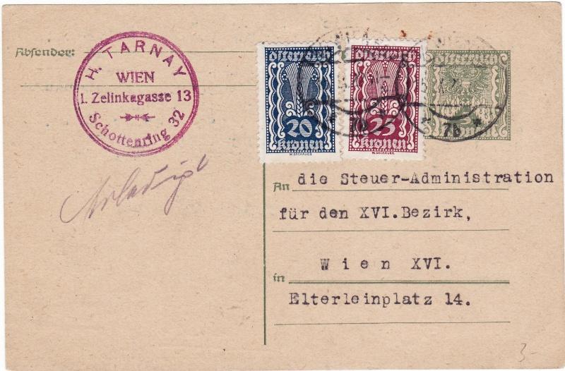 """Postkartenserie """"Quadratischer Wertstempel - Wertziffer im Dreieck"""" 1922-24 Img_0041"""