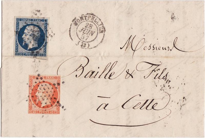 Frankreich  -  Poststücke mit Marken Type Napoleon Img_0075