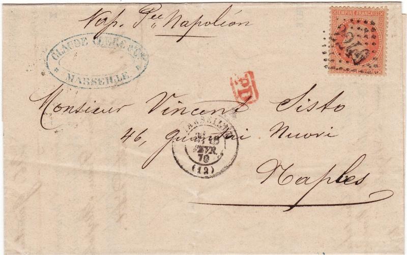 Frankreich  -  Poststücke mit Marken Type Napoleon Img_0084