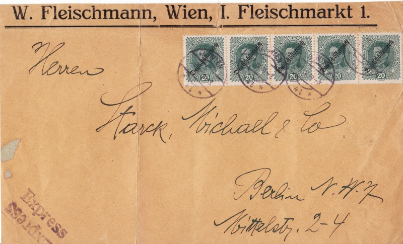 Republik Deutsch-Österreich  -  Bedarfspost Dez. 1918 - Dez. 1921 Img_0087