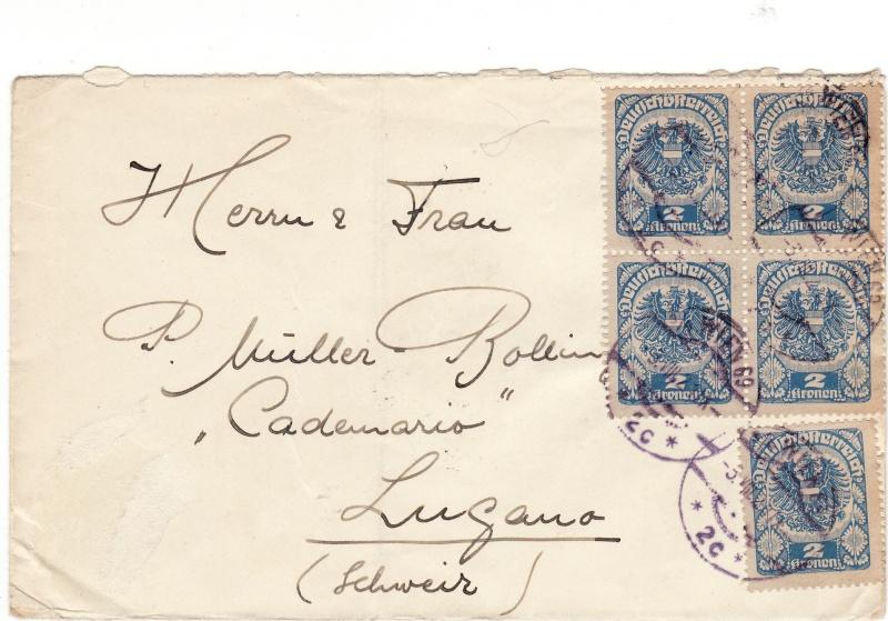 Republik Deutsch-Österreich  -  Bedarfspost Dez. 1918 - Dez. 1921 Img_0094
