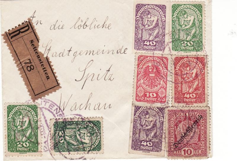 Republik Deutsch-Österreich  -  Bedarfspost Dez. 1918 - Dez. 1921 Img_0095