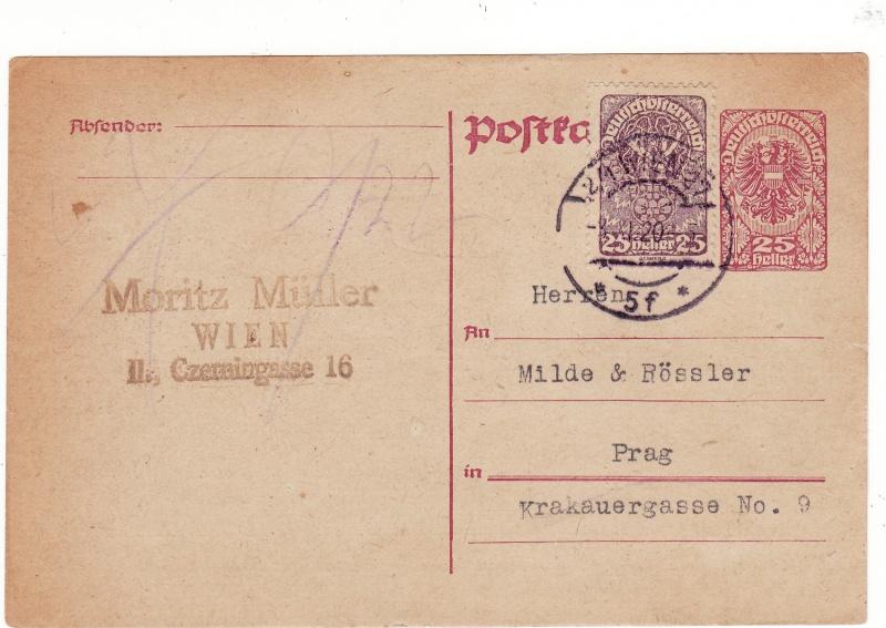 """Postkartenserie """"Neuer Wappenadler"""", Inschrift """"Deutschösterreich"""" Img_0102"""