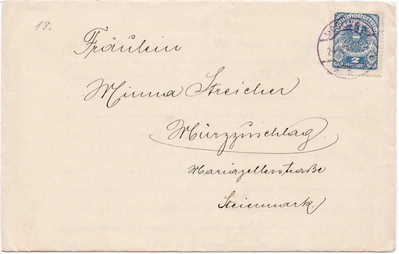 Republik Deutsch-Österreich  -  Bedarfspost Dez. 1918 - Dez. 1921 Img_0105