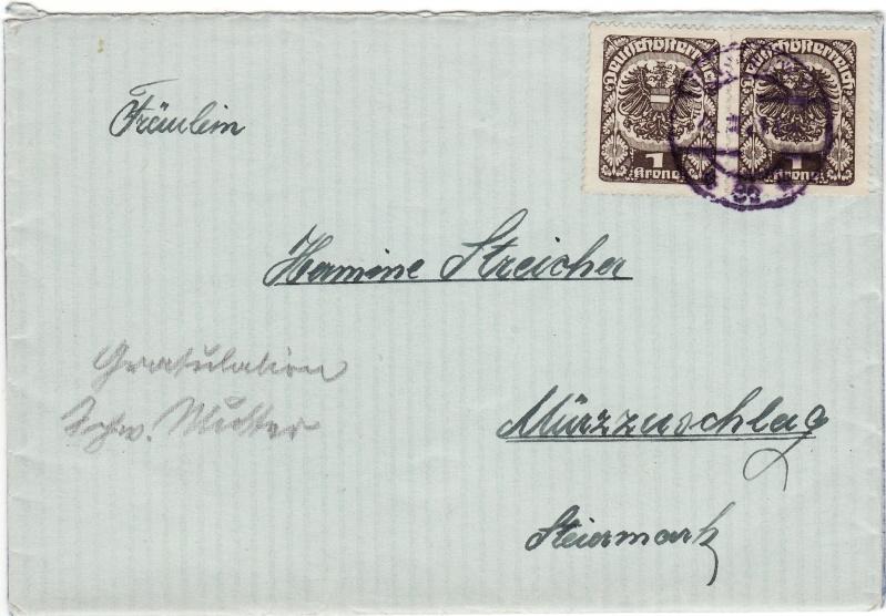 Republik Deutsch-Österreich  -  Bedarfspost Dez. 1918 - Dez. 1921 Img_0106