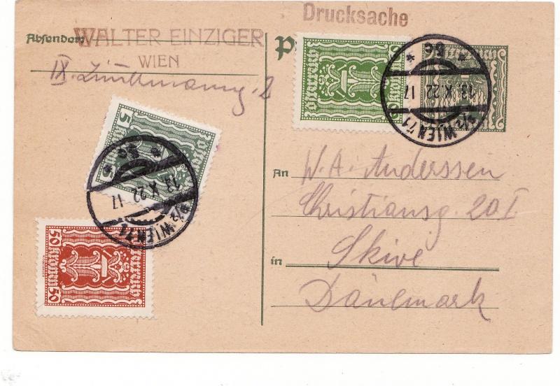 """Postkartenserie """"Quadratischer Wertstempel - Wertziffer im Dreieck"""" 1922-24 Imga11"""