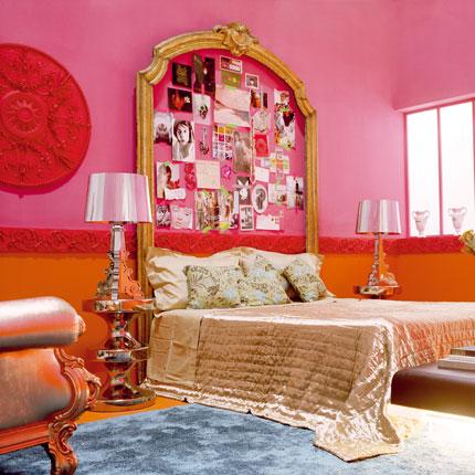 Peinture pour mur : Rose / Noir.. Bonne idée ? Chambr19
