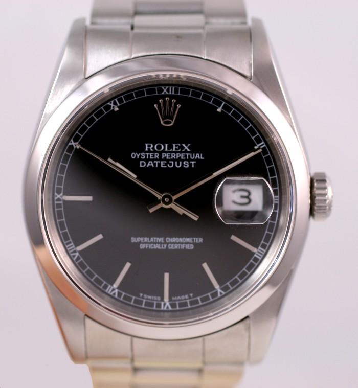 (Vendue) Rolex 16200 Datejust cadran noir laqué Img_1124