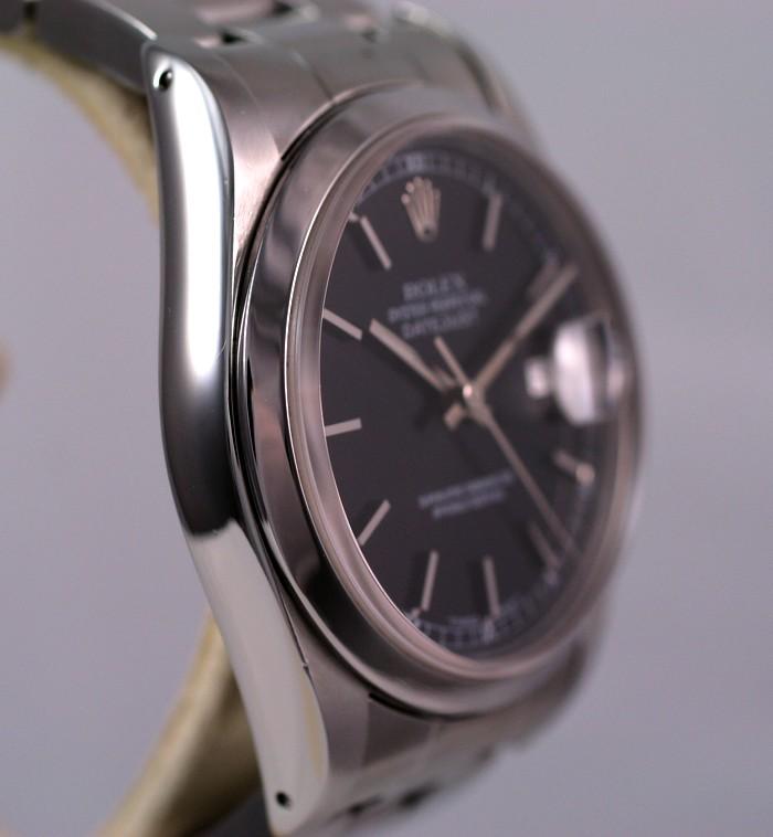 (Vendue) Rolex 16200 Datejust cadran noir laqué Img_1125