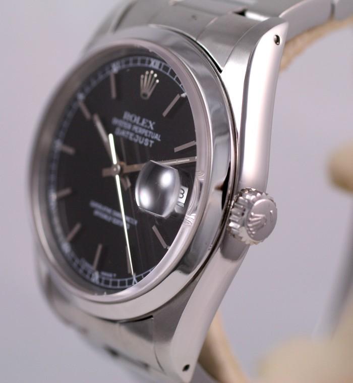 (Vendue) Rolex 16200 Datejust cadran noir laqué Img_1126