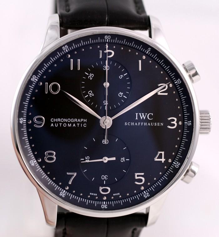 VENDUE - IWC Portugaise cadran noir Img_1228