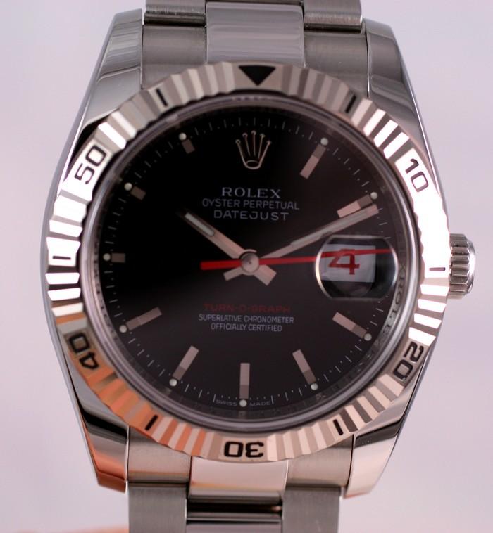 (Vendue) Rolex Turn O Graph écriture rougeRéf : 116264 Img_5610