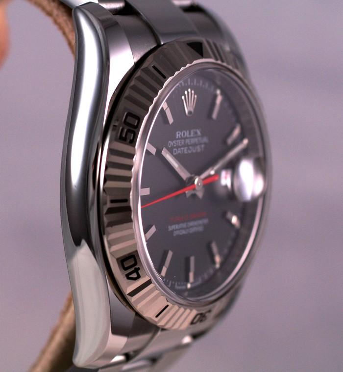 (Vendue) Rolex Turn O Graph écriture rougeRéf : 116264 Img_5611