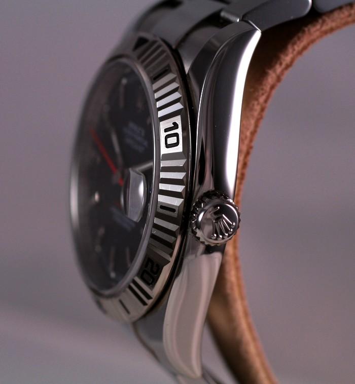 (Vendue) Rolex Turn O Graph écriture rougeRéf : 116264 Img_5612